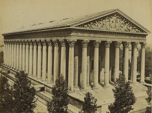 France Paris Eglilse de la Madeleine Ancienne Photo Neurdein 1900