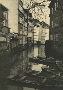 Republique Tcheque Prague Ostrov Kampa Canal Barques Ancienne Photo 1935