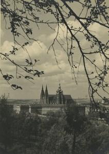 Republique Tcheque Prague Chateau vue generale Ancienne Photo 1935