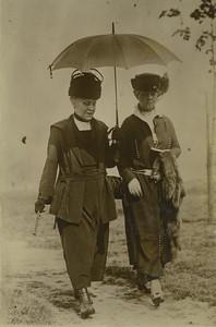 USA New York Mrs Andrew Carnegie & sa niéce Ancienne Photo Presse 1920's