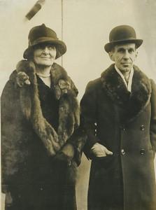 USA Washington Mr & Mme Vincent Massey Ambassadeur Canadien Ancienne Photo Presse 1926