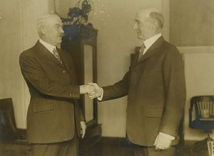 USA Washington Amiraux Latimer & E.H Campbell Ancienne Photo Presse 1925