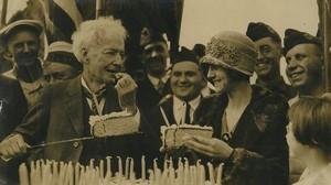 USA Californie Santa Rosa Luther Burbank Anniversaire Ancienne Photo Presse 1920's