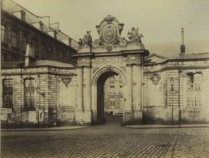 France Abbaye Saint Vaast d'Arras Ancienne photo albumine Voelcker 1882