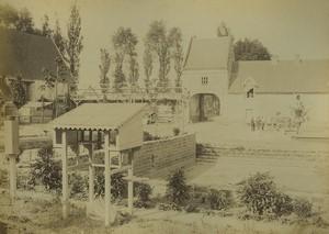 France Arras 3e Régiment du Génie Aerostation Militaire Ancienne photo albumine Voelcker 1882