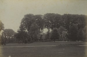 France Arras jardin Public Ancienne photo albumine Voelcker 1882