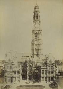 France Arras Hotel de Ville Ancienne photo albumine Voelcker 1882