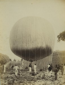 France Arras 3rd Engineer Regiment Military Ballooning Old Voelcker photo 1882#1