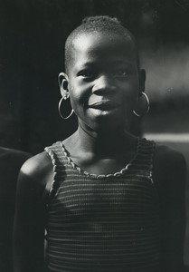 Ivory Coast Godoufouma Young Girl Portrait Old Photo Defossez 1970's