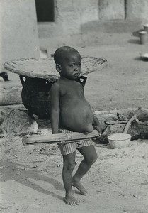Ivory Coast Godoufouma? Young Boy Portrait Old Photo Defossez 1970's