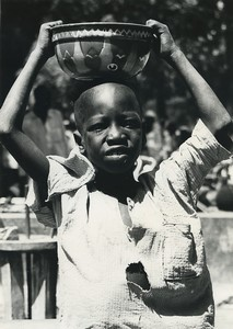Africa Cameroun Bogo Young Boy Portrait Old Photo Defossez 1970's