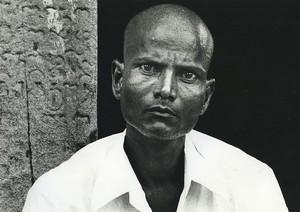 Indonesia Bald Man Portrait Old Photo Defossez 1970's