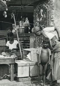 India Street Retailers Shop Old Photo Defossez 1970's