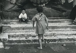 Nepal Kathmandu Young Children Old Photo Defossez 1970's