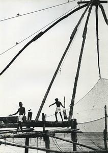 India Fishermen Portrait Study Seaside Old Photo Defossez 1970's