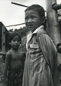 Thailand Chiang Rai Children portrait Old Photo Defossez 1970's