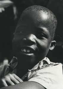 Africa Ivory Coast Young Boy Portrait Old Photo Defossez 1970's