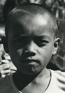 Indonesia Sumatra Porsea young boy portrait Old Photo Defossez 1970's