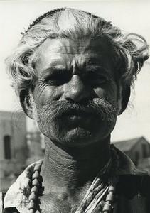 Inde portrait masculin étude Ancienne Photo Defossez 1970's