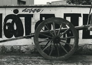 India Wooden Cart Wheel study Old Photo Defossez 1970's