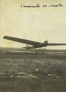 Bordeaux Aviation Croix d'Hins Ruchonnet & de Pontac Antoinette Old Photo 1910