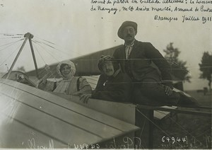 Etampes Aviation pioneer Le Lasseur de Ranzay de Pontac Old Photo Branger 1911