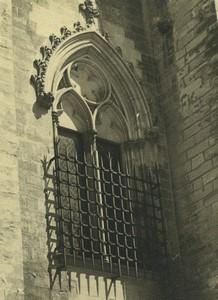 France Avignon Papal Palace Palais des Papes Window Old Amateur Photo 1947