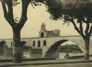 France Avignon Pont Saint-Bénézet Chapelle Ancienne Photo Amateur 1947 #3