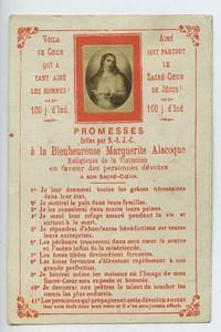 France Daniel Paris Sacré Coeur de Jesus ancienne image pieuse vers 1900 avec petite photo