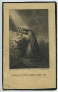 France Julia de Stoutz de Speyr Death Holy card 1927 with small photo