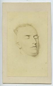 France Man Post Mortem Portrait old CDV Photo circa 1890