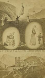 France Notre Dame de La Salette Pilgrimage Old CDV Photo Vagneur circa 1890