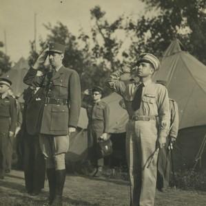 Italie San Tammaro WWII Général De Gaulle rend visite au GR 2/33 Savoie ancienne Photo 18 mai 1944