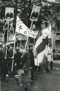 Paris pro De Gaulle Demonstration Asnieres Old photo Huet 1968, june 4