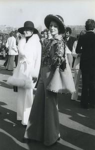 Paris Auteuil Grand Steeple-Chase Semaine de la Mode ancienne Photo Huet 1972