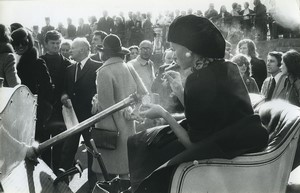 Paris Auteuil Fashion Week Grand Steeple-Chase  Old photo Huet 1972