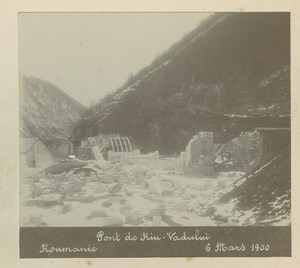 Romania Riu Vadului Bridge Construction old Anonymous Photo 1899