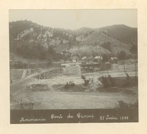 Romania Proieni Bridge under Construction old Anonymous Photo 1899