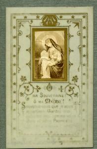 France Religion Holy Card Photo Albumen on Celluloid 1880