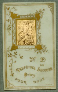 France Religion Holy Card Vanves Photo Albumen on Celluloid 1880