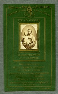 France Religion Holy Card Joseph Photo Albumen on Celluloid Dopter 1880