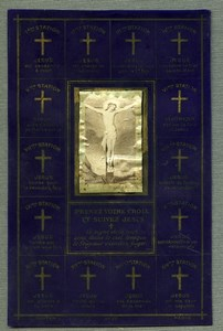 France Religion Holy Card Stations of the Cross Photo Albumen Celluloid 1880