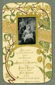 France Religion Holy Card Mini Gravure mounted on Paper Boumard 1880