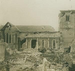 France WWI near Arras ? Church Ruins old SIP Photo 1914-1918
