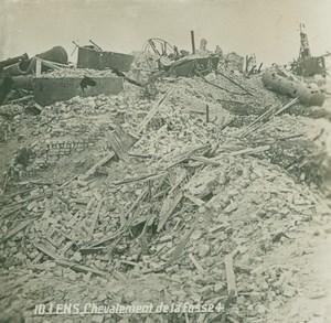 France WWI Lens Mining Fosse 4 Headframe Ruins old SIP Photo 1914-1918