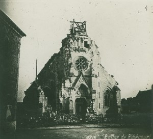 France WWI Ribecourt Church Ruins Bombardments old SIP Photo 1914-1918