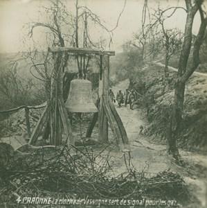 France WWI Craonne Vassogne Bell Emergency Population Warning SIP Photo 1918