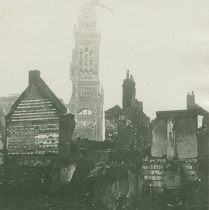 France WWI Albert Basilique Notre-Dame de Brebières old SIP Photo 1915