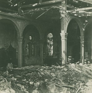 France WWI Verdun Faubourg Pave Church Ruins old SIP Photo 1914-1918