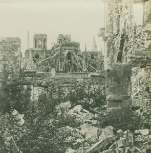 France WWI Reims Cathedral Ruines Destruction old SIP Photo 1914-1918